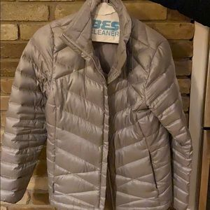 Silver North Face Coat
